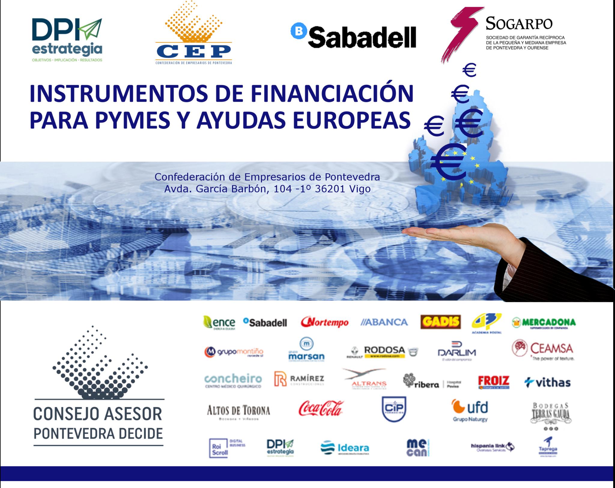 Jornada Instrumentos de financiación para pymes y ayudas europeas